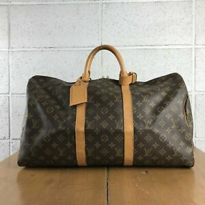 100% Authentic Louis Vuitton Monogram Keepall 50 M41426 Used 2-7