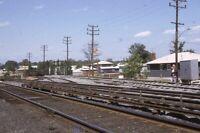 Unidentified Railroad Train Tracks Suburbs Original 1965 Photo Slide
