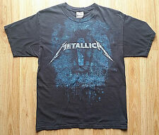 Mens Black Medium Metallica Death Magnetic Coffin Band T-Shirt