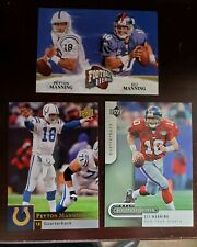 (3) lot of Peyton and Eli Manning Indianapolis Colts New York Giants Upper Deck