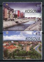 Kosovo Architecture Stamps 2020 MNH Podujeva City Bridges Buildings 2v Set