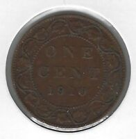 1910 Canada One Cent Coin VF-20