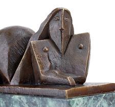Kubistische Künstlerbronze Skulptur - signiert Lipchitz - Liegender Bronze Akt