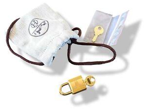 Hermes Plated Gold CADENAS Key Lock Padlock 2 KEYS Birkin Kelly
