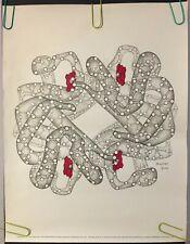 Original Vintage Poster 1978 Hemoglobin 70s Medical Illustration Science Pin-up