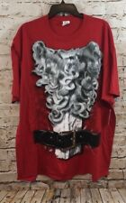 Santa Claus christmas shirt mens large costume red ugly sweater new graphic F3