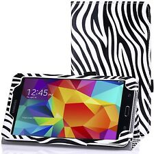 """Zebra print pattern leather stand case pour Samsung Galaxy Tab 4 8.0 8 """"T330 T331"""