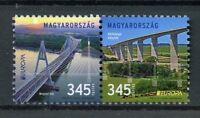 Hungary 2018 MNH Bridges Europa Bridge 2v Set Architecture Tourism Stamps