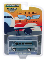 GREENLIGHT 30129 GLOBAL AIRLINES 1969 FORD CLUB WAGON DIECAST CAR 1:64