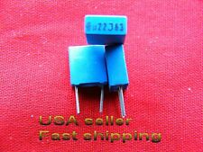 50 pcs - .22uf (0.22uf, 220nf) 63v Siemens 5% mini box metalized film capacitors
