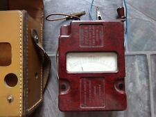 volt meter vintage bakerlite in leather case