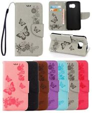 GX Fashion Pretty Butterfly Embossed Wallet Flip PU Leather Case Cover For Phone