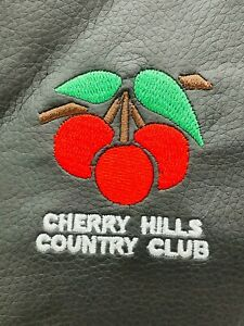Cherry Hills Country Club Black Championships Leather Valuables Pouch Tote Bag