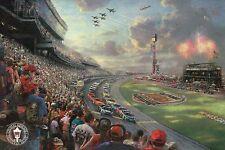 "NASCAR Thunder -- Daytona 500 --- 8 1/4"" x 5 1/2"" Thomas Kinkade Dealer Postcard"