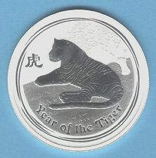 """2010 """"Year of the TIGER"""" Australia 1/2 ounce SILVER coin - Series 2 - *GEM BU*"""