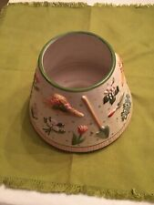 """Yankee Candle Large Shade Gardening Flowers Trowels Cream Green 6.5"""" x 4.5"""""""