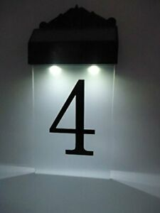 Flurida Solar Powered LED Door Tag Wall Light House Number Plaque
