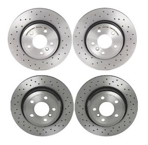 Brembo Xtra Front Rear Brake Disc Rotors Drilled Kit for BMW E83 X3 2004-2010