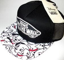 MENS VANS DISNEY DALMATIANS SNAPBACK BLACK/WHITE HAT ADJUSTABLE CAP