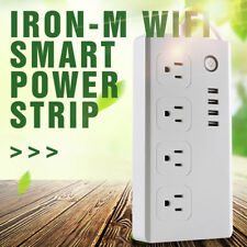 Smart Home power Socket Plugs 4 USB Remote Control timer switch ALEXA US Plug
