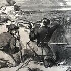 2 1863 CIVIL WAR newspapers ULYSSES S GRANT & the SIEGE OF VICKSBURG Engravings