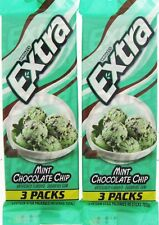 Wrigley's Extra Mint Chocolate Chip Gum 90 Sticks American Sugar Free Xylitol