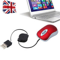 Retractable Portable USB Optical Scroll Wheel Travel Mini Mouse Mice For Laptop