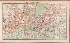 Landkarte city map 1899: Stadtplan HAMBURG-ALTONA, Maßstab 1 : 21.000 Germany