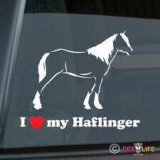I Love my Haflinger Sticker Die Cut Vinyl Avelignese Horse