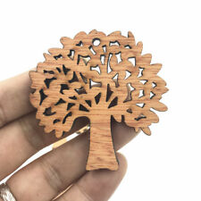 DIY 10pcs Wooden Pendant tree shape Decoration Scrapbooking Handicraft 57mm