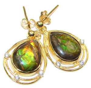 Ammolite Earrings 925 Sterling Silver + Free Shipping  by SilverRush Style