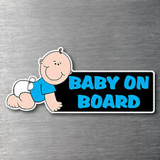 Baby on board sticker quality 7 year vinyl  water & fade proof blue boy