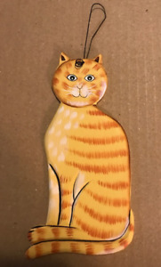 Tabby country primitive cat feline wood cats kitten wall decor plaque sign