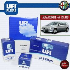 KIT TAGLIANDO ALFA ROMEO 147 GT 1.9 JTD JTDM 4 FILTRI UFI OLIO ABITAC ARIA CARB