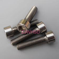 4pcs M6 x 25 mm Titanium Ti Screw Bolt Allen Hex Socket Cap Head Aerospace Grade