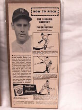 Vintage Floyd Bevens How to Pitch Wheaties Vintage 1940s Advertisement