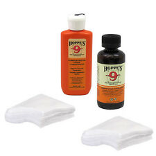 HOPPES Gun Bore Cleaner PLUS LUBRICATING OIL & 60 PATCHES for .22-.270 Caliber