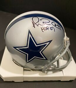 Michael Irvin Hand Signed Auto Mini Helmet  Cowboys W/HOF Inscription HOLO
