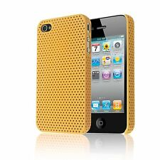 PERFORATED MESH IMPACT HARD BACK PLASTIC COVER CASE FOR APPLE IPHONE 4 4G