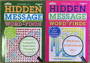 2 New Hidden Message Word-Finds Puzzle Books Vol # 131,132 ~Search,Hunt,Activity