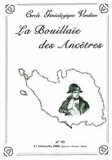 Revue cercle généalogique Vendéen la Bouillaïe des ancêtres No 93 book