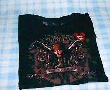New Disney Pirates Of The Caribbean Jack Sparrow T-Shirt Black L/S Small NWT