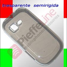 Custodia silicone SEMIRIGIDO trasparente NERA per SAMSUNG S5360 GALAXY Y