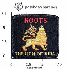 LION OF JUDAH ROOTS ROOT DAVID  RASTAFARI SELASSIE MARLEY PATCH