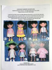 """NG Creations Sewing Pattern Summer Outfits fits 8"""" Everyday Adventures Dora Doll"""
