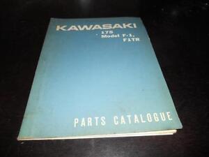 Kawasaki 1971 F1 1966 F1TR Parts Catalogue CATALOG MANUAL