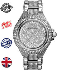 MICHAEL KORS MK5869 CAMILLE SILVER CRYSTAL PAVE GLITZ DIAL WOMEN'S LADIES WATCH