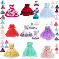 Tutu bridesmaid princess dress baby wedding dresses formal party kid girl flower