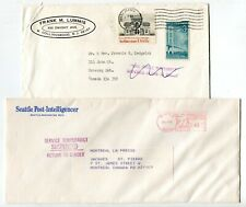 Canada / USA 1981 Postal Strike - Mail Service Suspended - Pair of Covers # 6