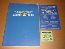 "Moody Blues ""Voices In The Sky"" 1984 UK Tour Programme + Ticket + LP Flyer"